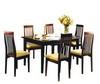Обеденные зоны, стол «Селена», стул  «Денди»